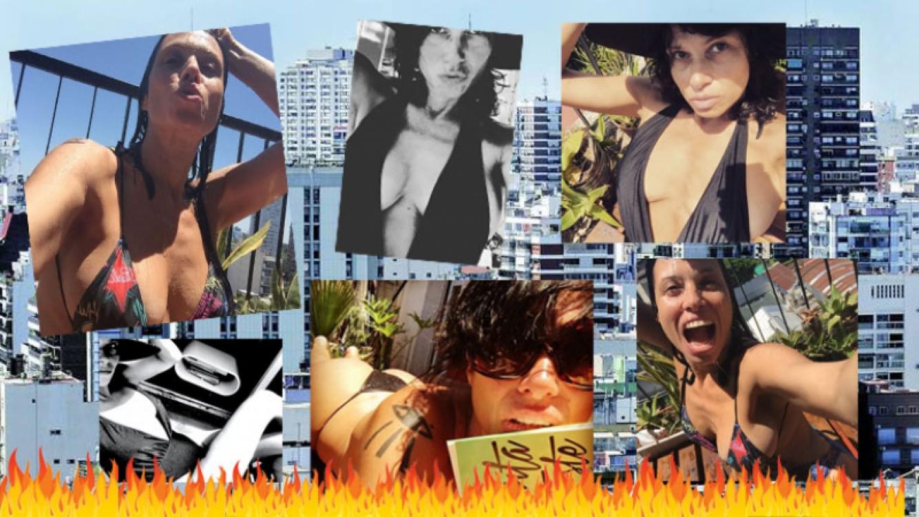 Érica García, la diosa rockera que calentó el termómetro desde el balcón de su casa. Foto: Instagram