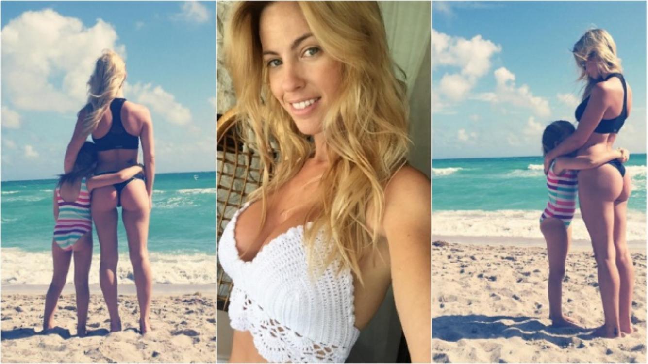 Roció Guirao Diaz, una mamá súper sexy en la playa. Foto: Instagram