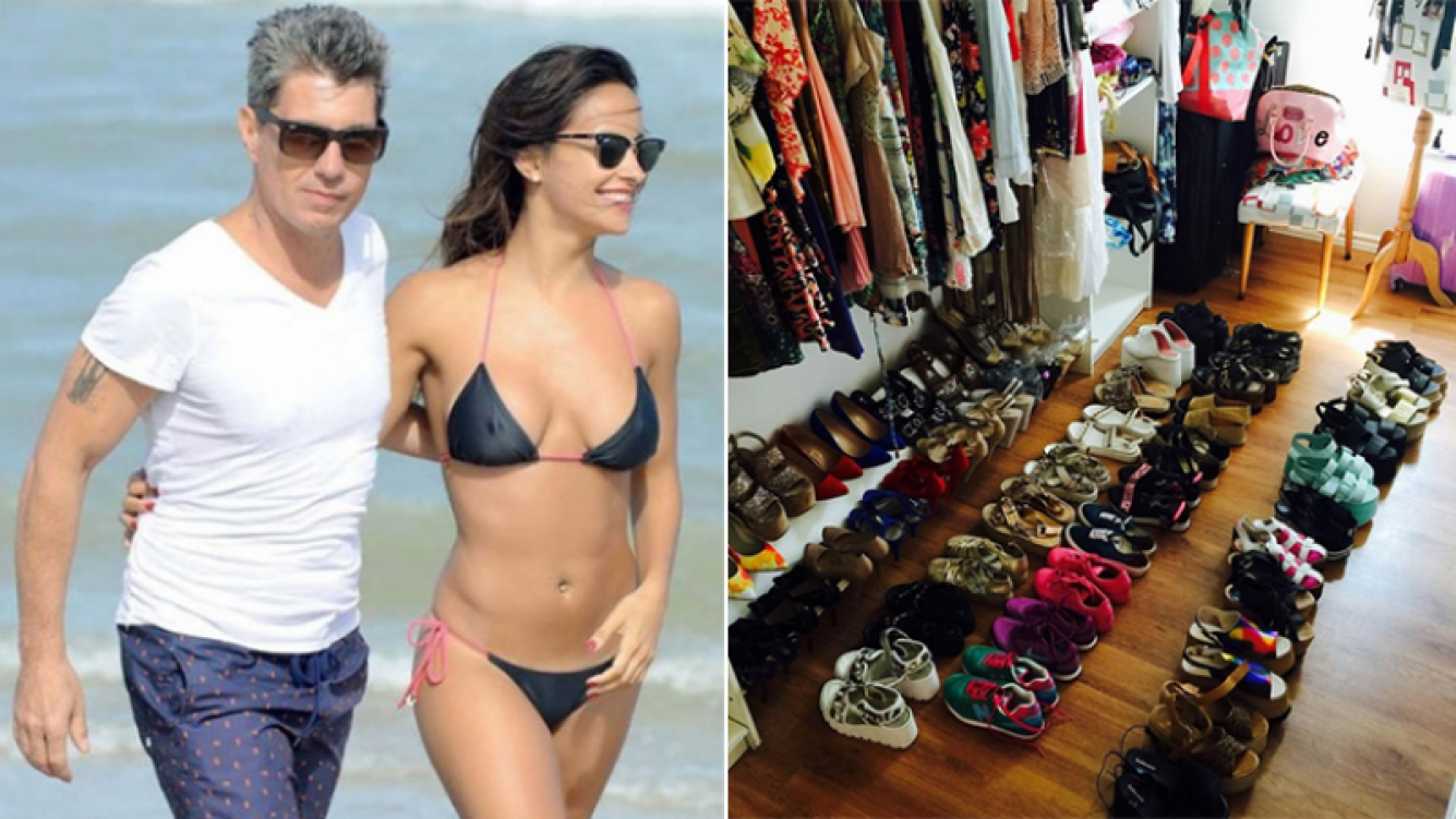 El Chato Prada mandó al frente a Lourdes Sánchez y sus más de 40 pares de zapatos. Fotos: Web e Instagram.