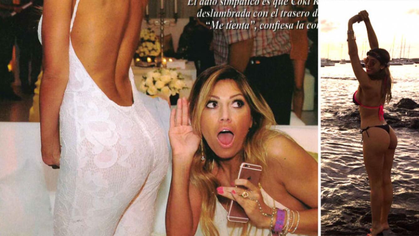 COki Ramírez se enamoró de la cola de Floppy Tesouro. Foto: revista Pronto
