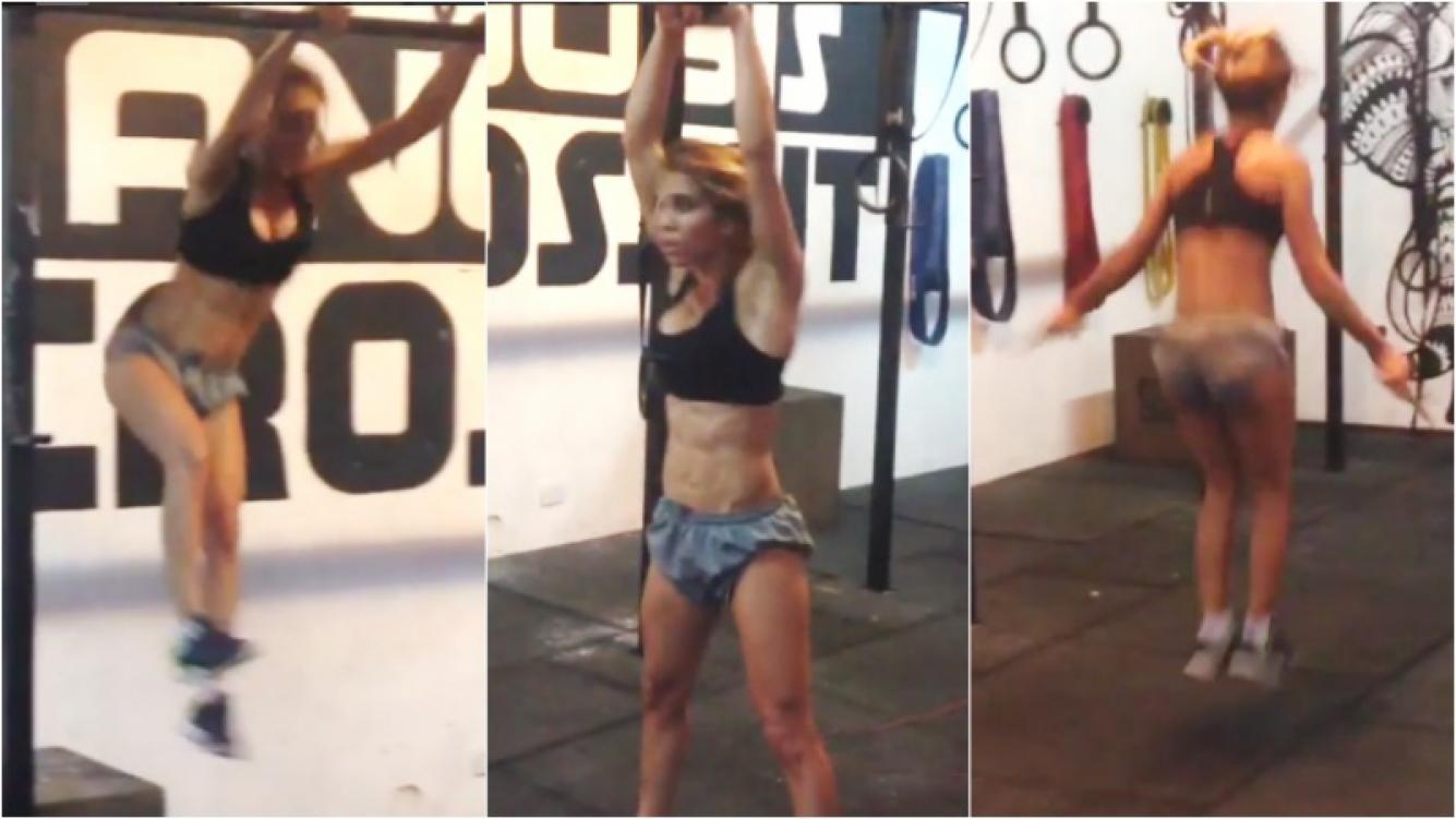 El durísimo entrenamiento de Cinthia Fernández… ¡y su tremendo lomazo! Foto: Instagram