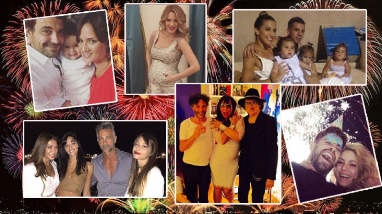Los famosos y sus fotos en el festejo de Año Nuevo (Fotos: Instagram y Twitter).