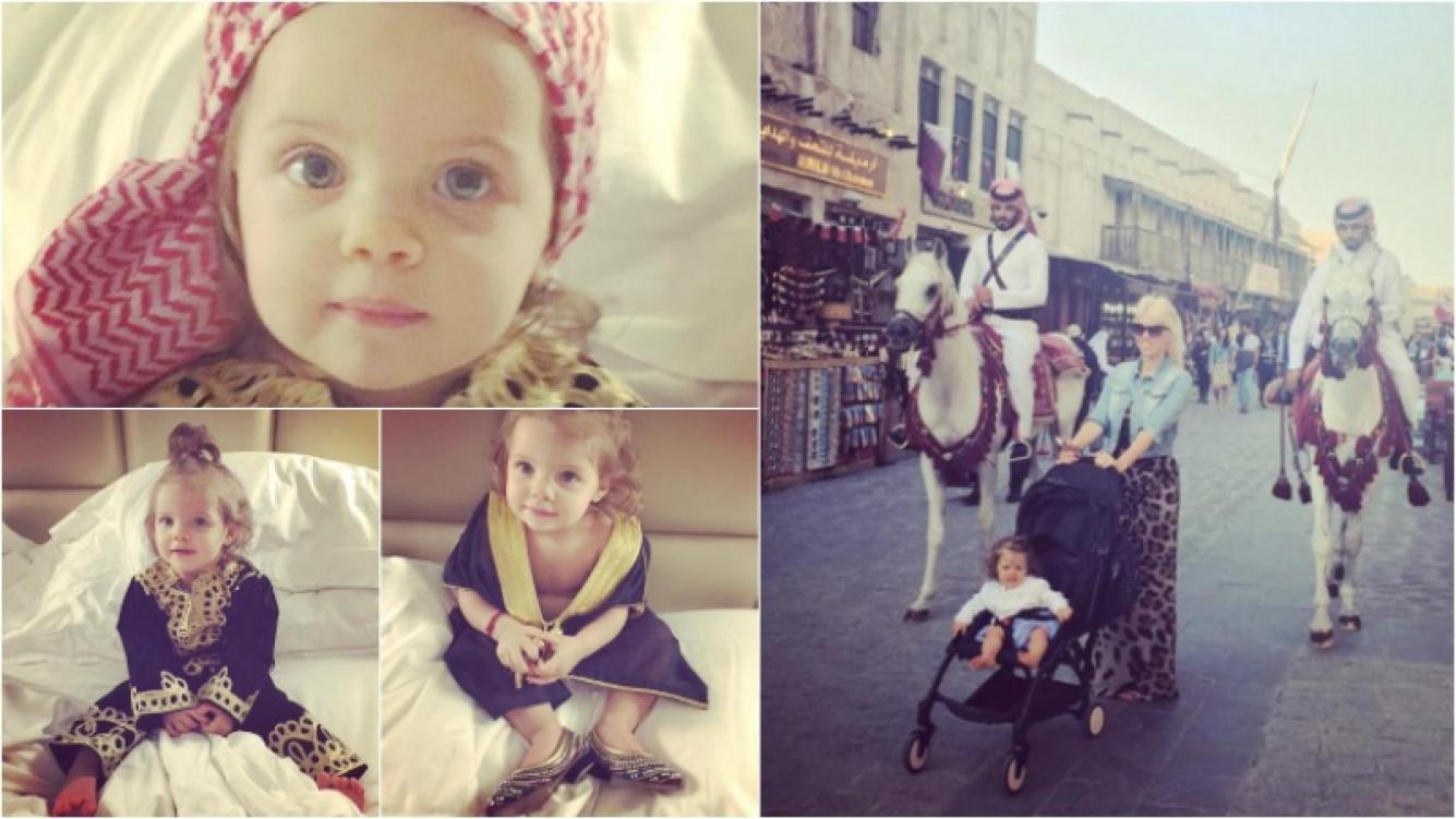 Francesca Icardi y sus looks árabes en Qatar para Año Nuevo. Foto: Instagram