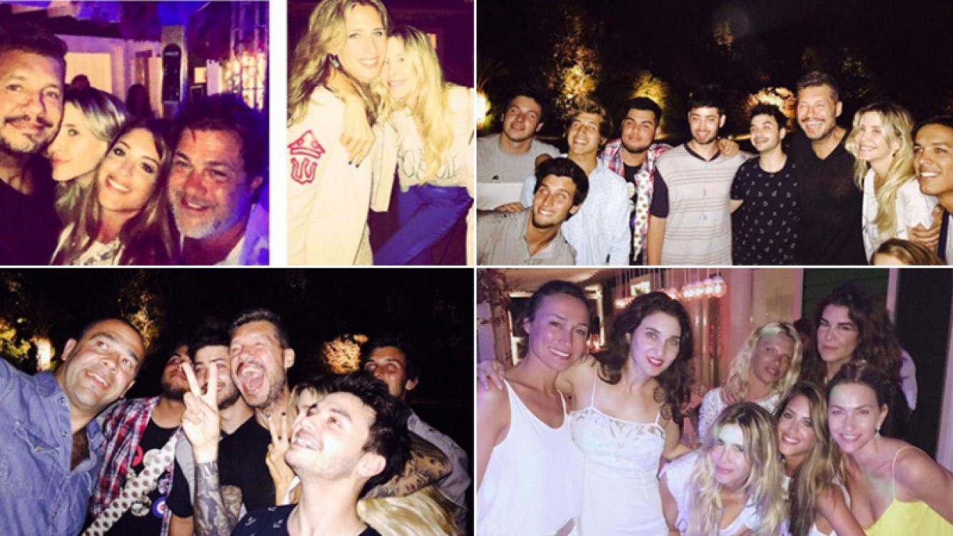 La súper fiesta de Marcelo Tinelli en Punta del Este. Fotos: Twitter.