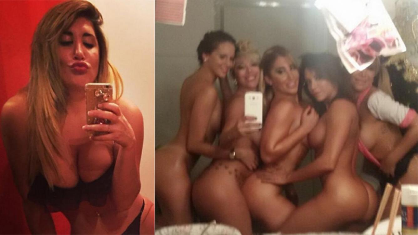 Ayelén Paleo y sus compañeras, desnudas en el camarín. Fotos: Twitter.