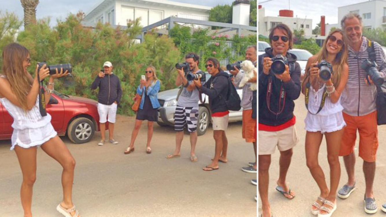 Pampita, una inesperada y divertida fotógrafa en las playas de Punta. (Foto: Twitter)
