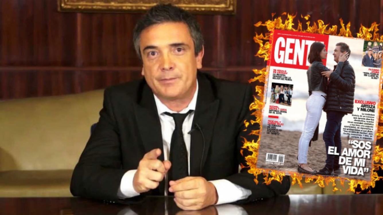 El título de Gente que desató la furia de Nito Artaza. Foto: Web y revista Gente