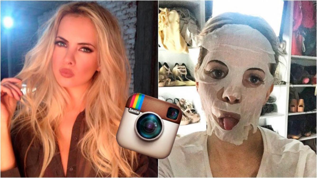 Alejandra Maglietti se animó a las máscaras faciales que eligen todas las celebrities. Foto: Instagram