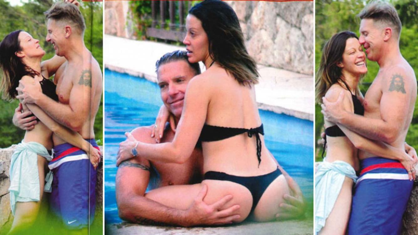 Fantino y Lanzoni, mimos hot y manitos picaronas en Carlos Paz. (Foto: revista Pronto)