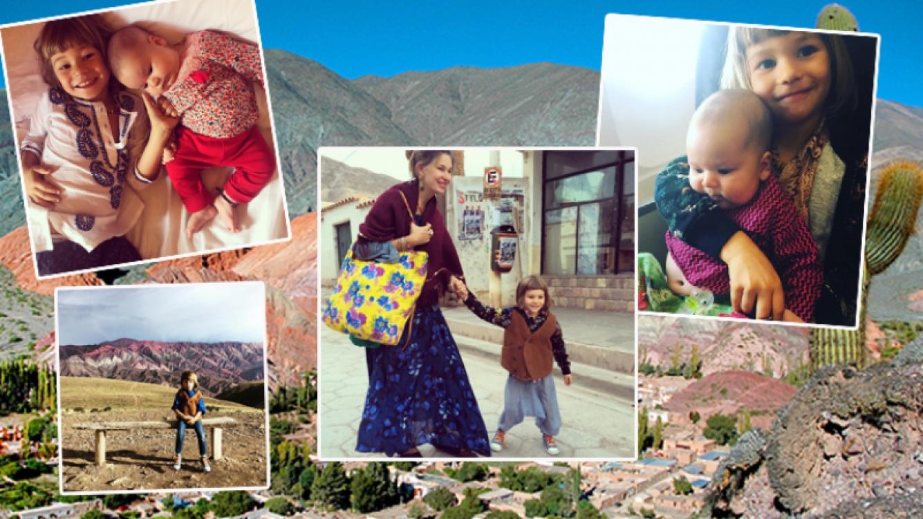 Dolores Barreiro viajó con sus dos hijos menores a Jujuy. Fotos: Instagram.