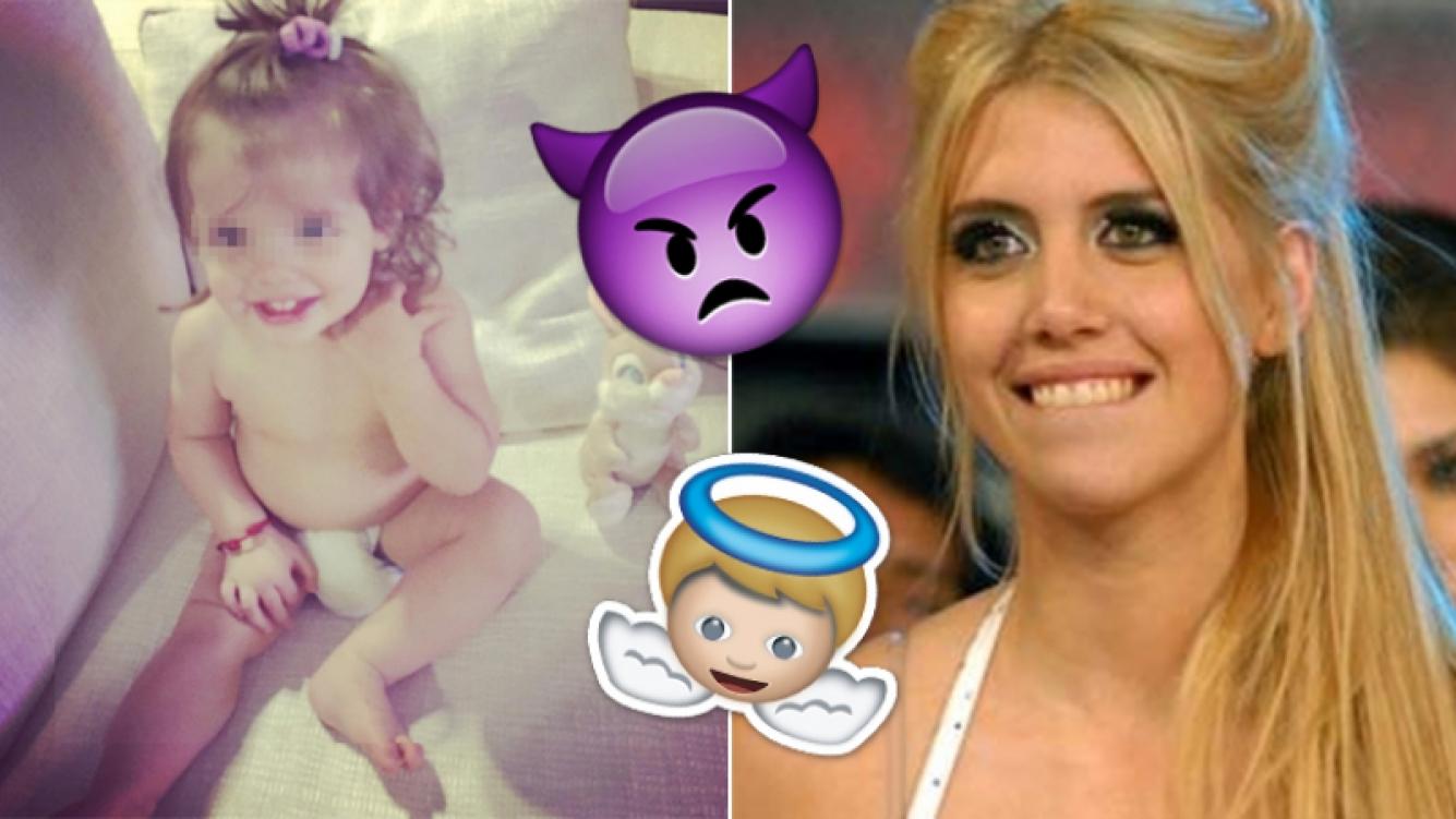 El absurdo debate por el pañal de la hija de Wanda Nara. Fotos: Instagram y Web.