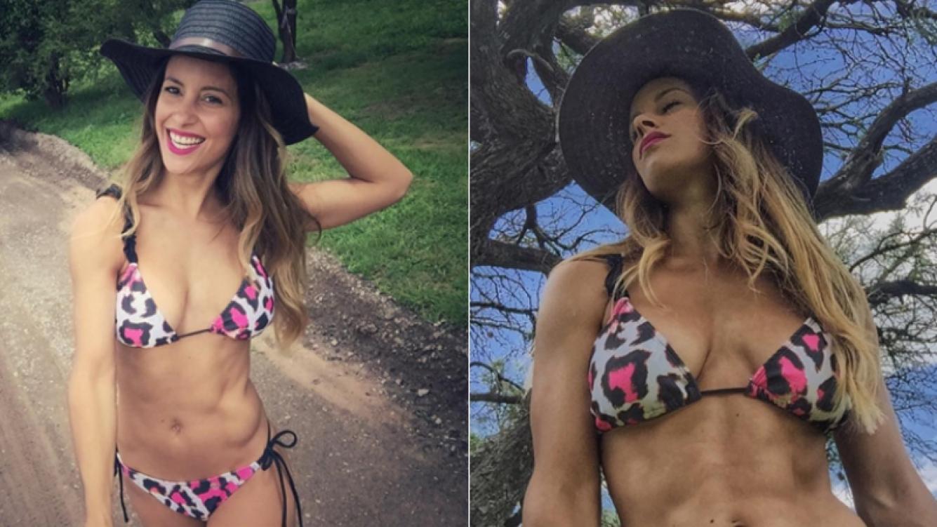 Lourdes Sánchez camina por las sierras cordobesas en bikini (Foto: Instagram)