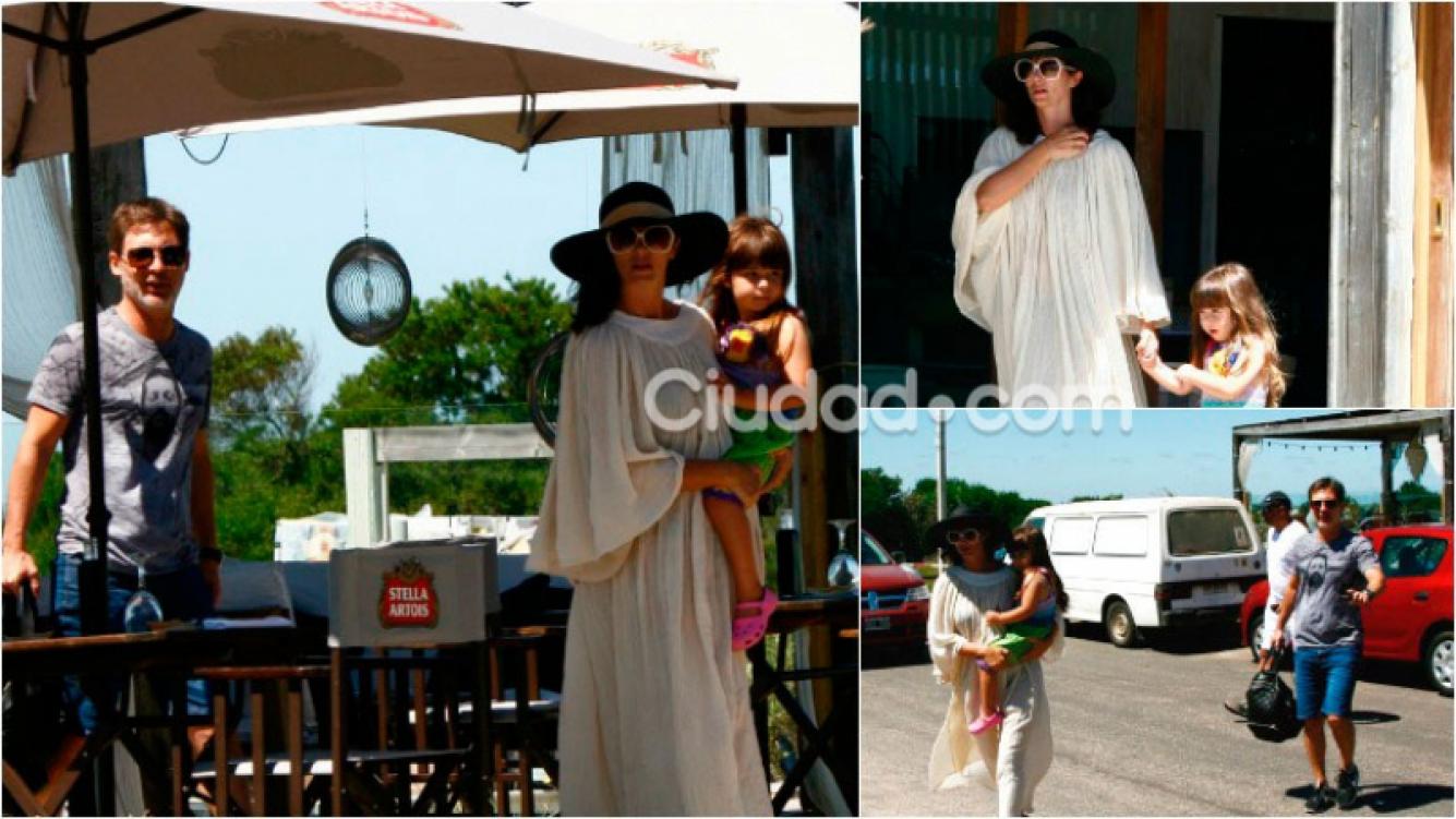 Adrián Suar y Griselda Siciliani, de almuerzo en Punta. Foto: MSnews