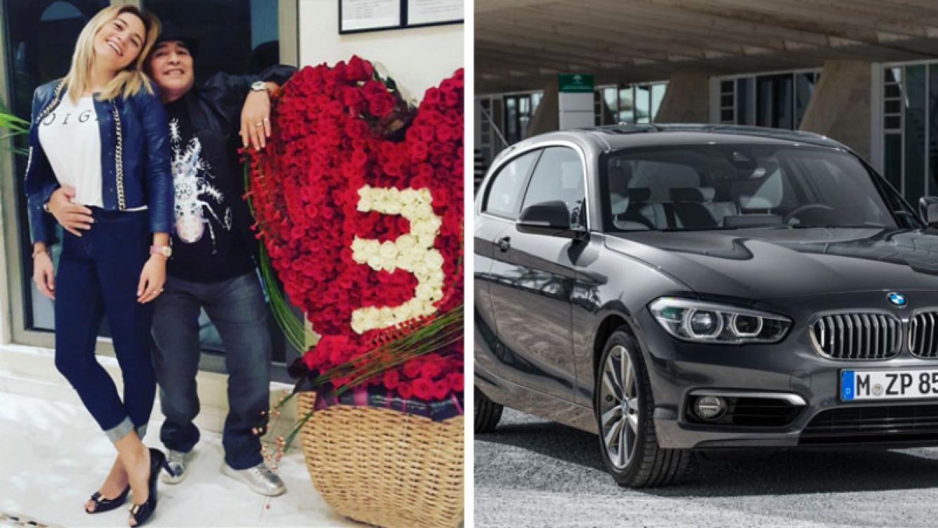 Rocío Oliva y Diego Maradona festejaron su tercer aniversario de novios. (Foto: Instagram)
