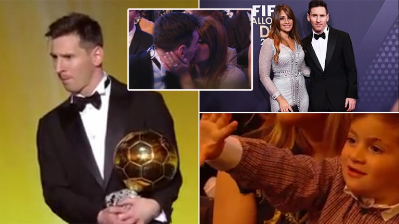 Messi ganó por quinta vez el Balón de Oro. Fotos: Web y Twitter.