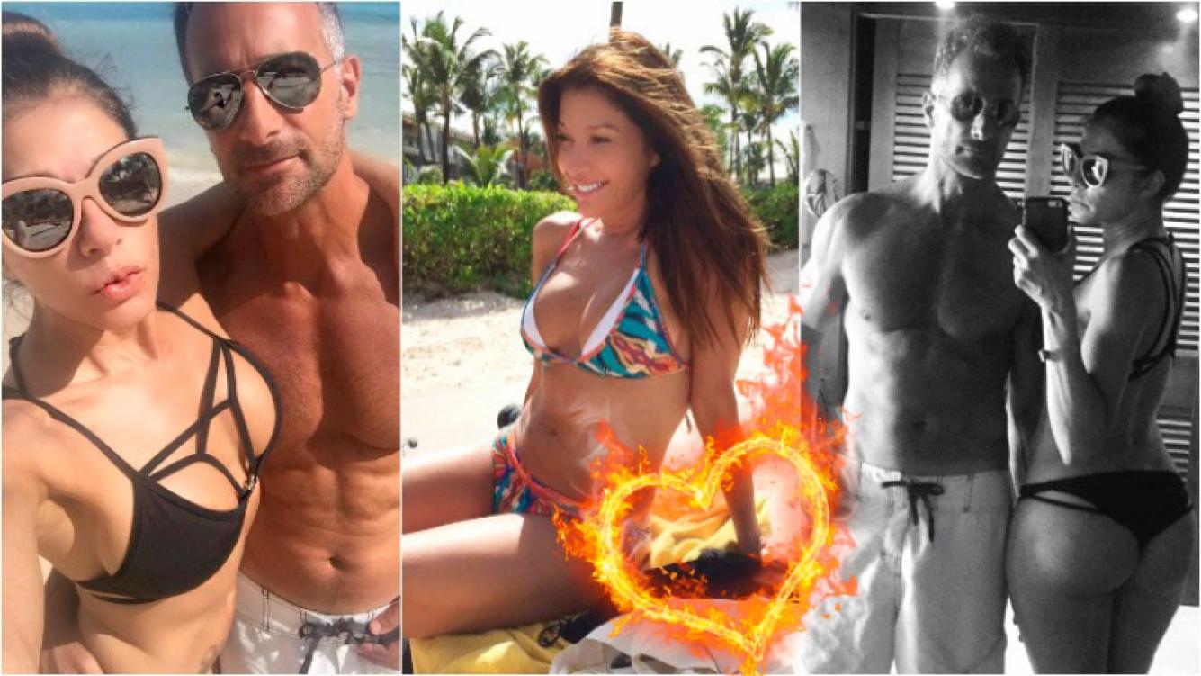 Catherine Fulop y Ova Sabatini, lomazos bajo el sol de Punta Cana. Foto: Twitter