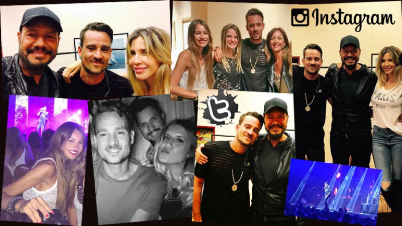 ¡Show de estrellas! Tinelli, Guillermina y Pampita, a puro pop junto a Chano en el recital de Tan Biónica. (Foto: Twitter e Instagram)