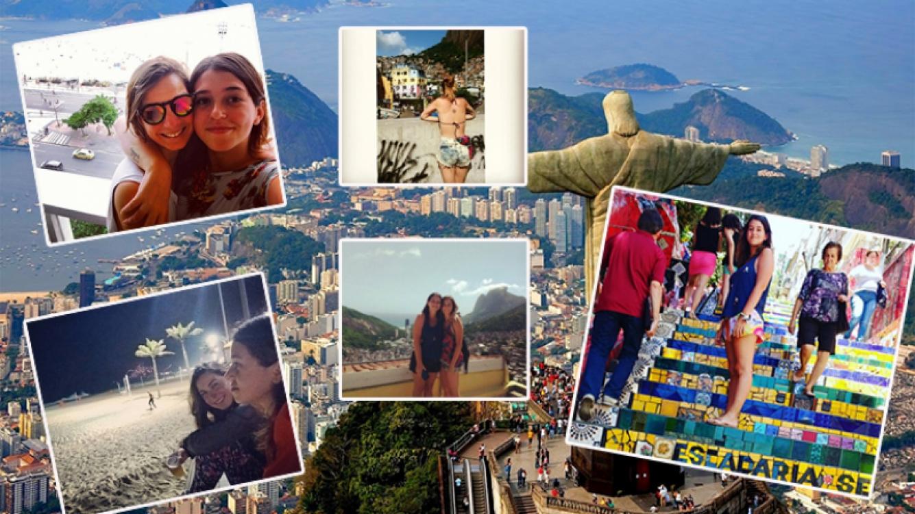 Leti Siciliani y su novia Delfina disfrutaron de Río de Janeiro. Fotos: Instagram.