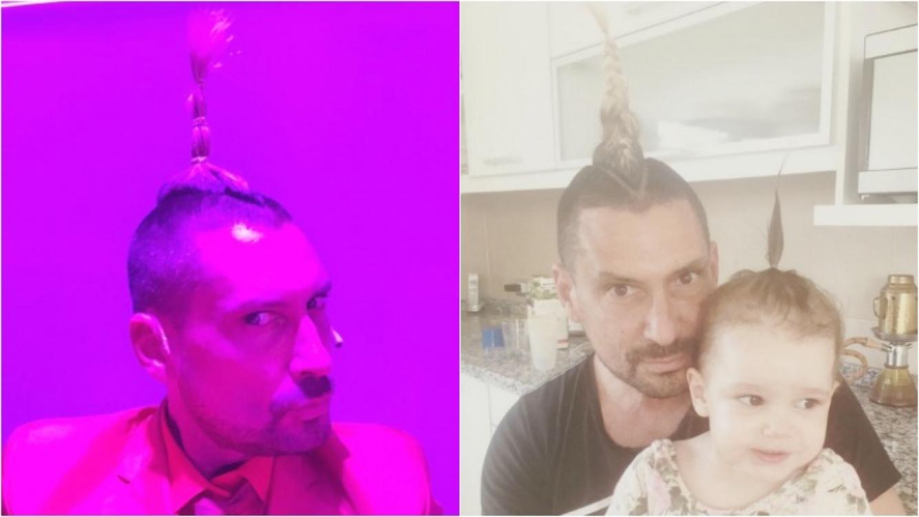 El look de Luciano El Tirri que marcó tendencia en la familia de Paula Chaves y Pedro Alfonso (Fotos: Twitter e Instagram)