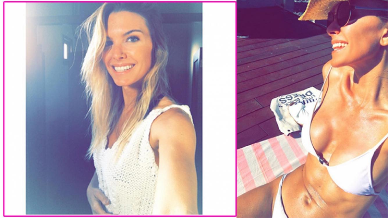 Sofía Zámolo y su desmentida sexy de embarazo. Fotos: Instagram.