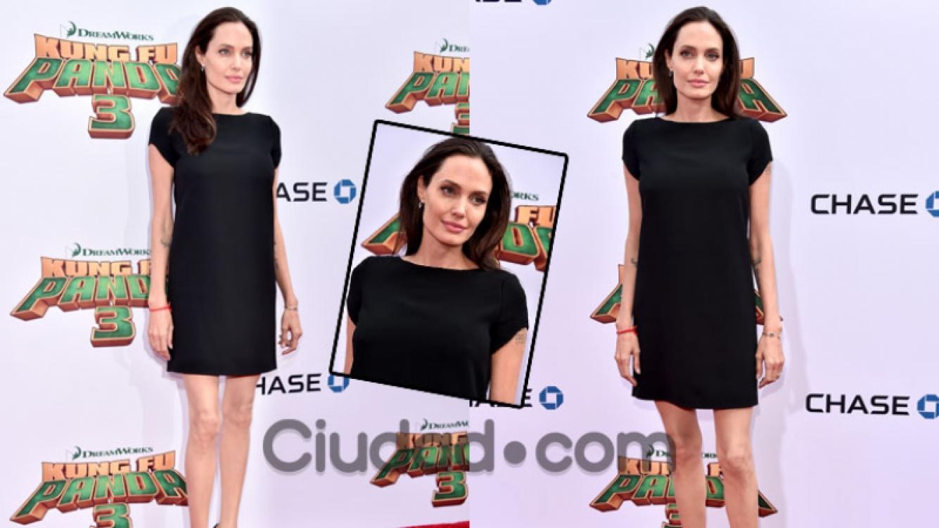 Angelina Jolie posó en la red carpet y preocupó por su peso (Fotos: AFP).