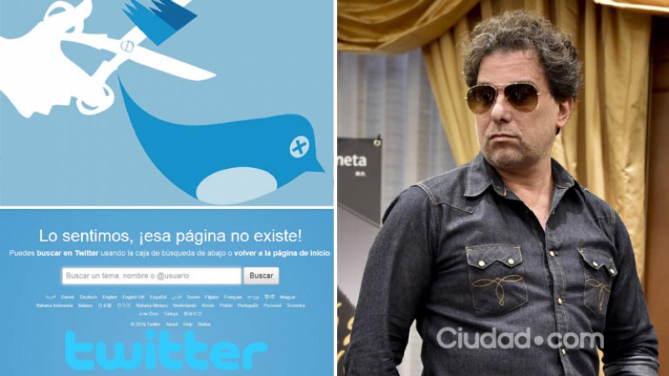 Andrés Calamaro cerró su cuenta de Twitter. Foto: AFP y Web