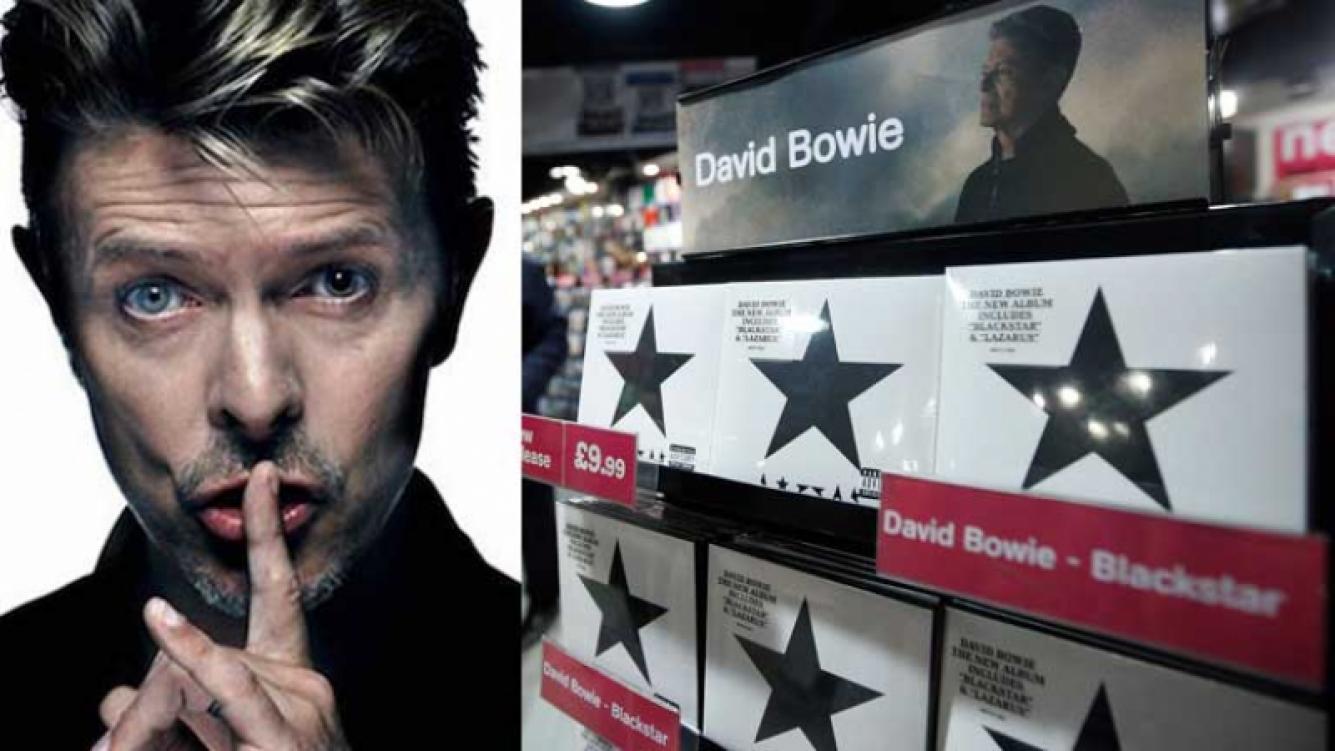 David Bowie encabeza las ventas con su último álbum.