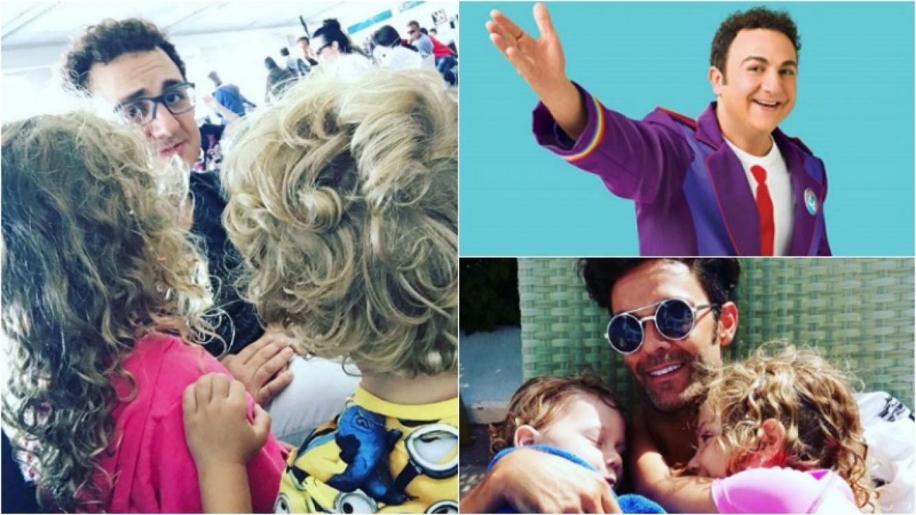 Mariano Martínez, papá feliz en el encuentro de sus hijos con Topa. Foto: Instagram