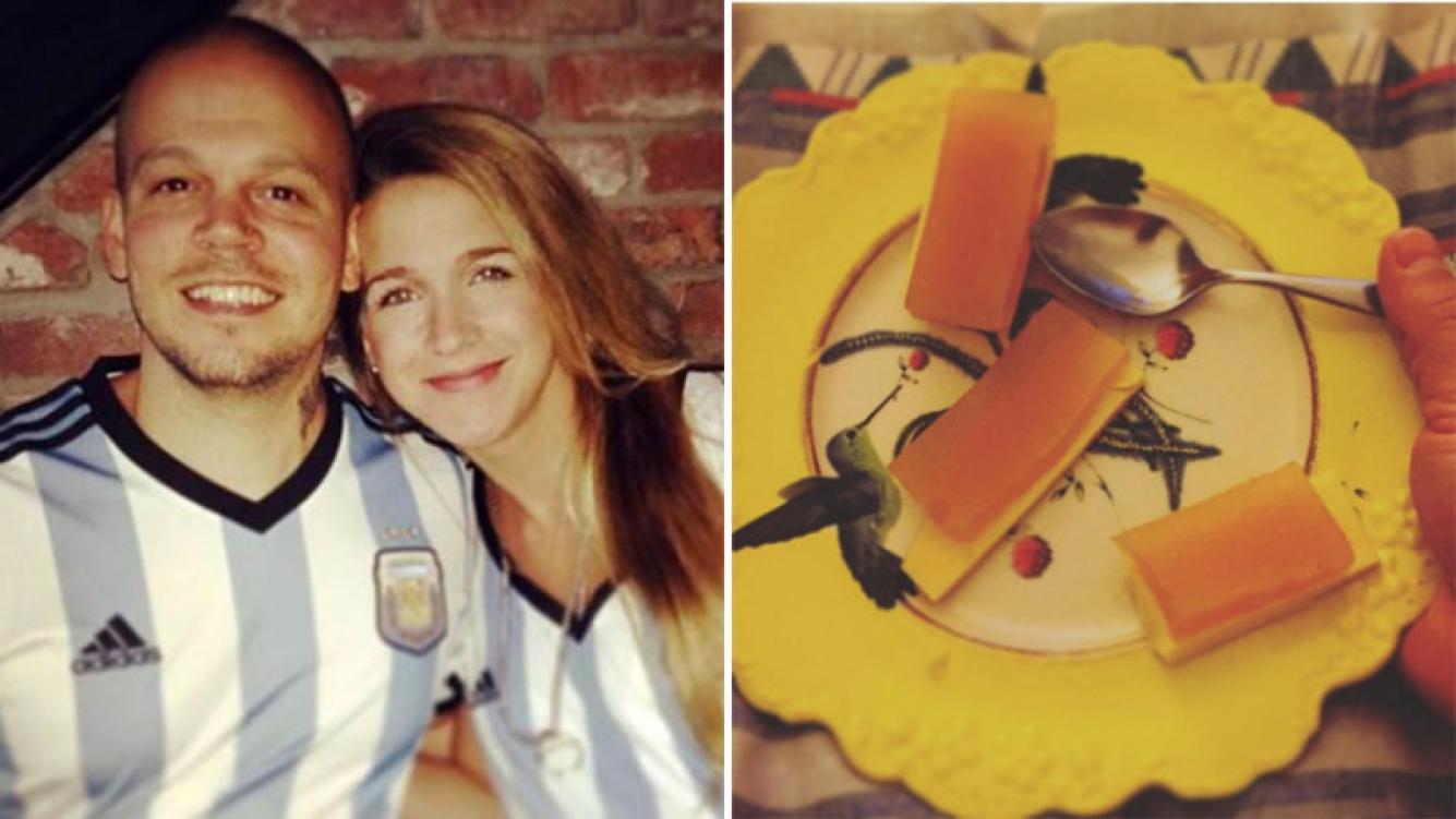 René Pérez y Soledad Fandiño se fanatizaron por el queso y el dulce de batata. (Foto: Web)