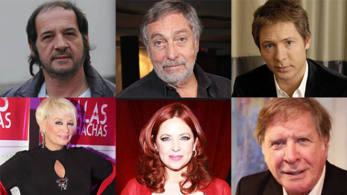 Un gran grupo de artistas firmaron un comunicado por la Ley del Actor. Fotos: Web.
