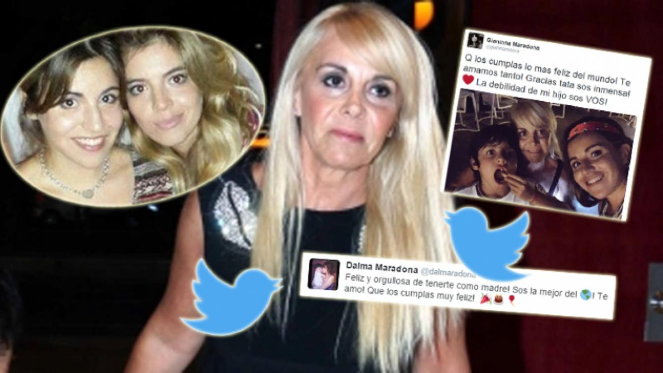 Los emotivos mensajes de Dalma y Gianinna para Claudia por su cumpleaños (Foto: Twitter y web)