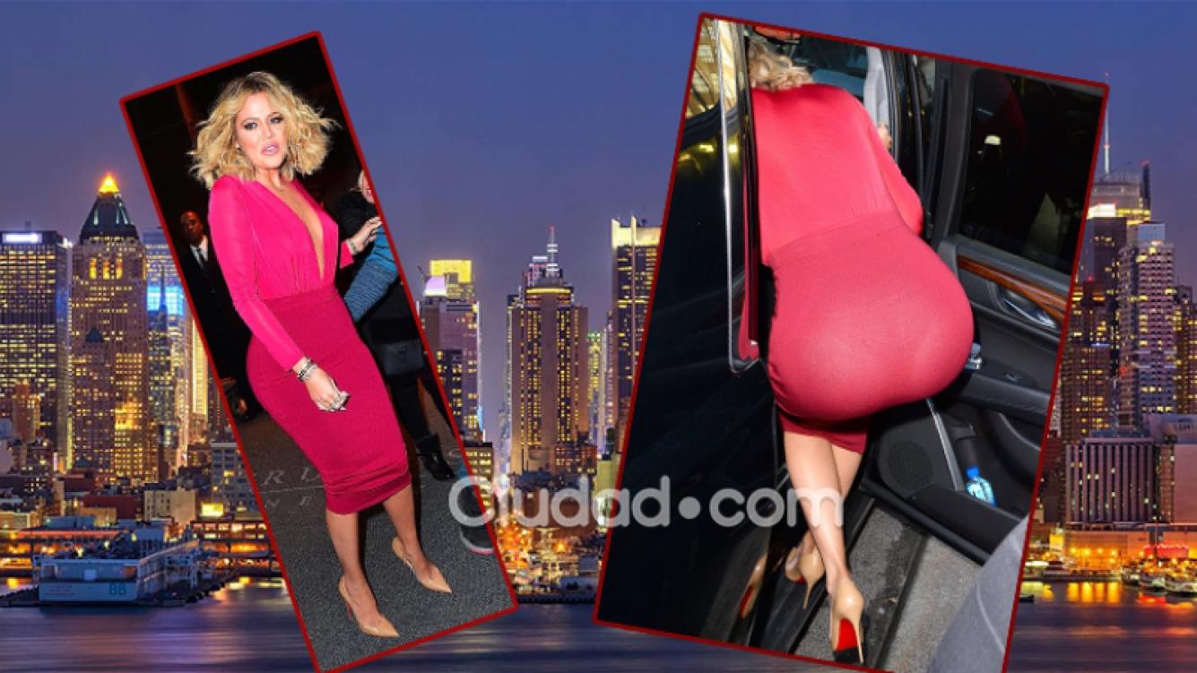 Khloé Kardashian y su explosivo look. Fotos: Grosby Group.