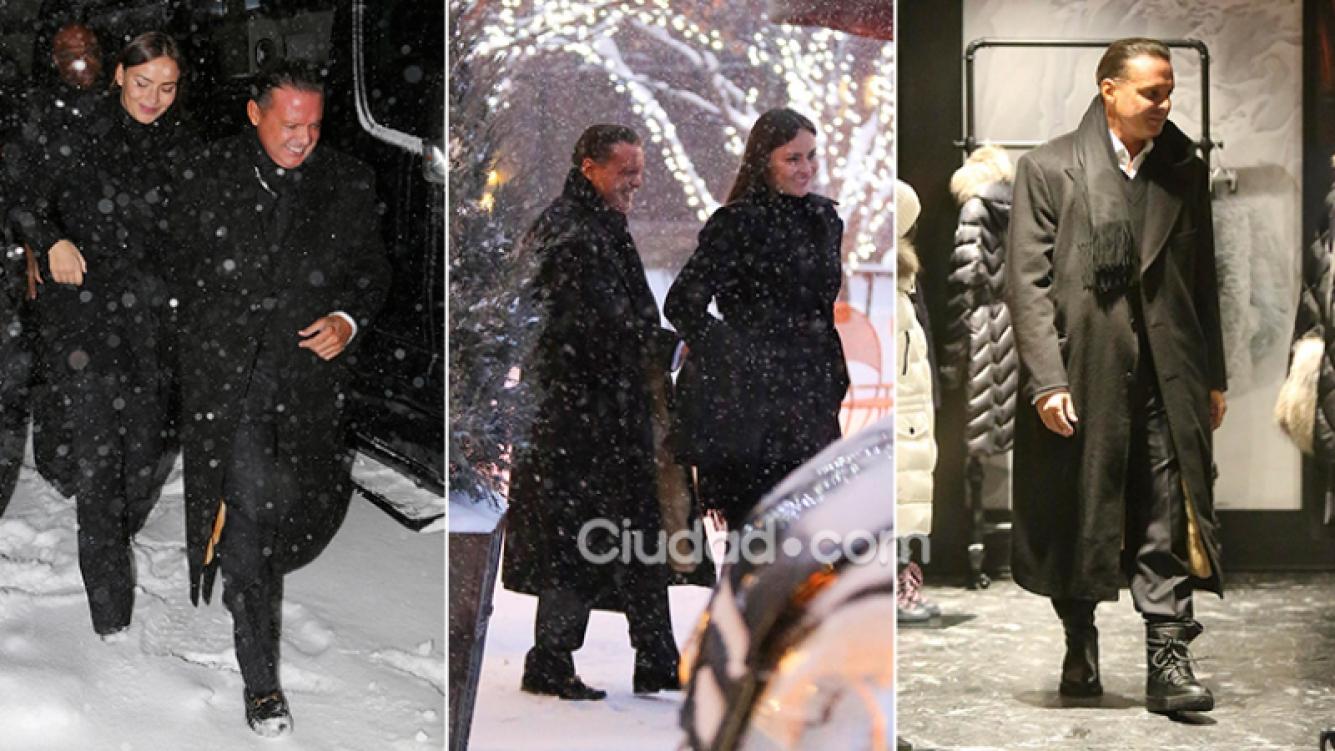 Luis Miguel y Kristina en Aspen. Fotos: Grosby Group.