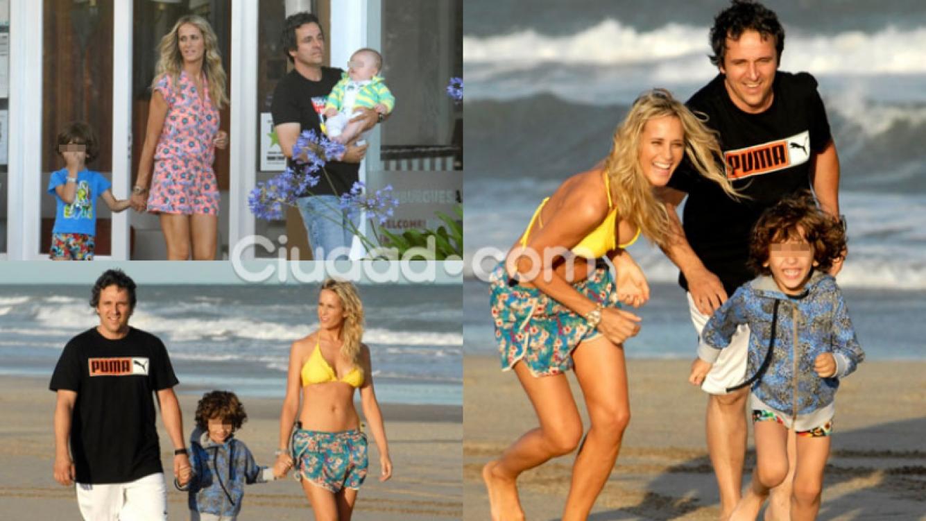 Julieta Prandi y su familia en las playas de Pinamar (Fotos: PC3).