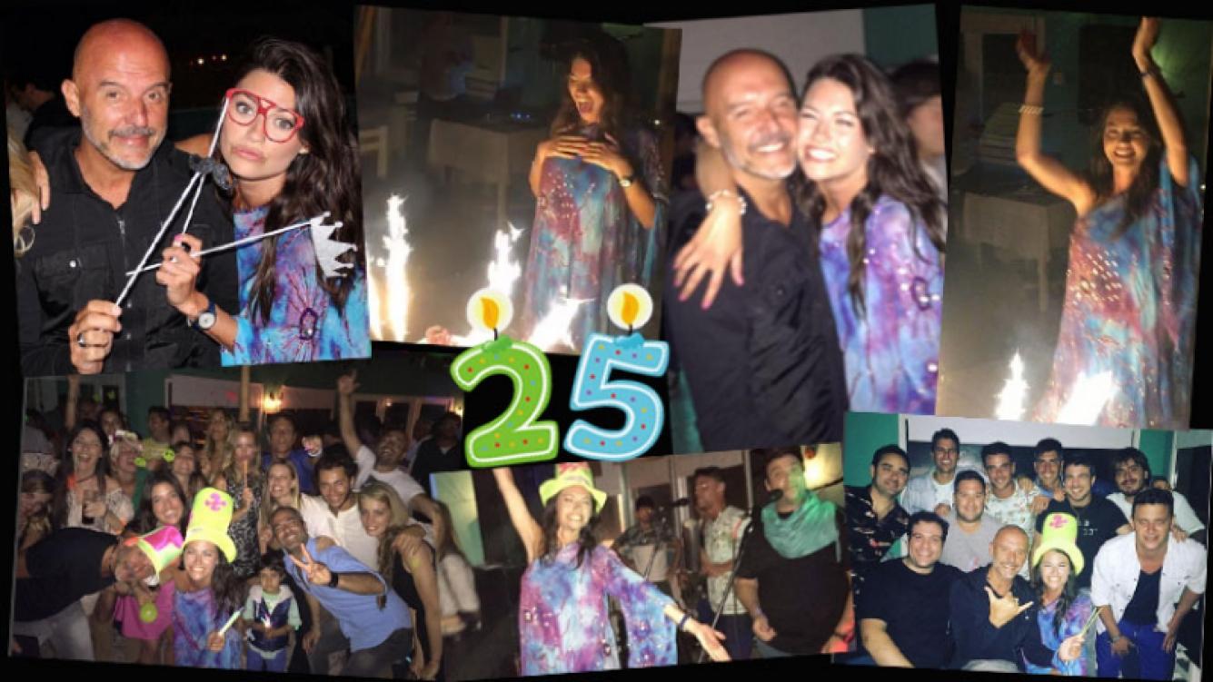¡Cuarto de siglo! El divertido cumple de Jujuy Jiménez en Pinamar: noche de música y romance con el Pelado López. (Foto: Instagram)