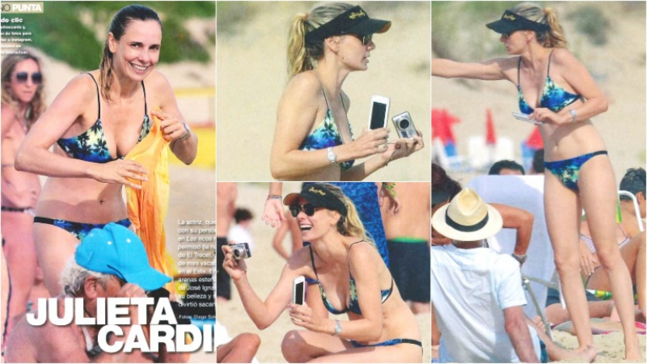 Las mini vacaciones de Julieta Cardinali en Punta del Este (Fotos: revista Gente)