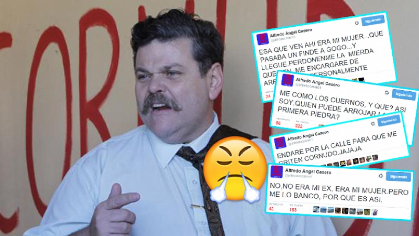 Alfredo Casero desató su furia en Twitter. (Fotos: Web y Twitter)