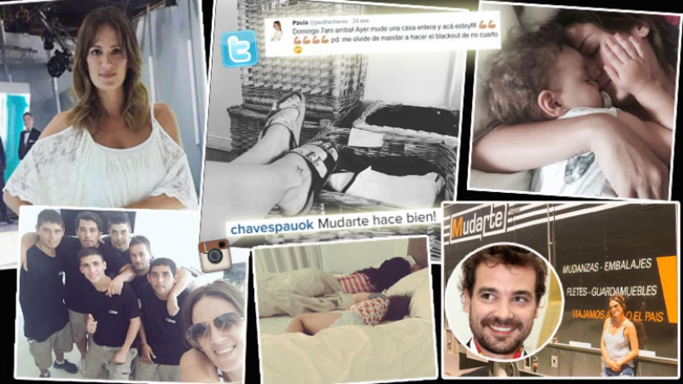 Paula Chaves enfrentó la mudanza sin Pedro. (Foto: Instagram)