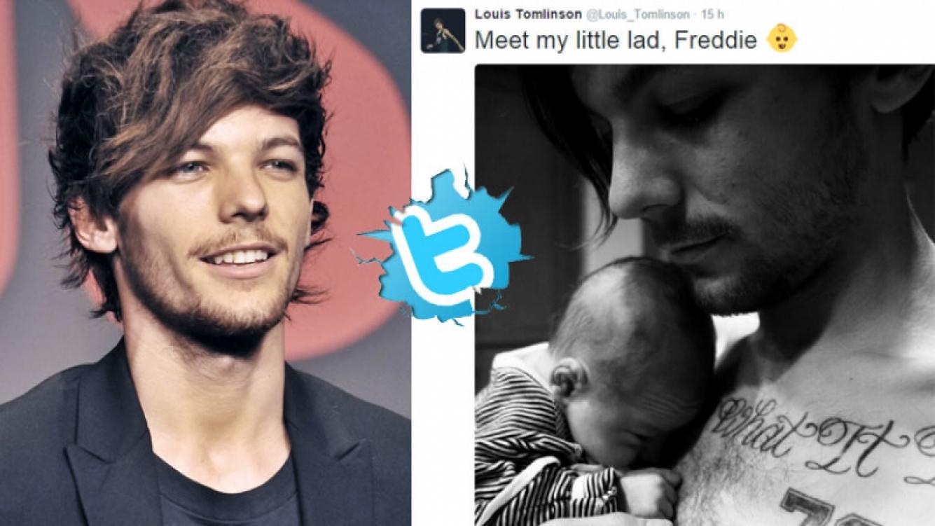 Louis Tomlinson, de One Direction, presentó a su bebe en Twitter. (Foto: Twitter)