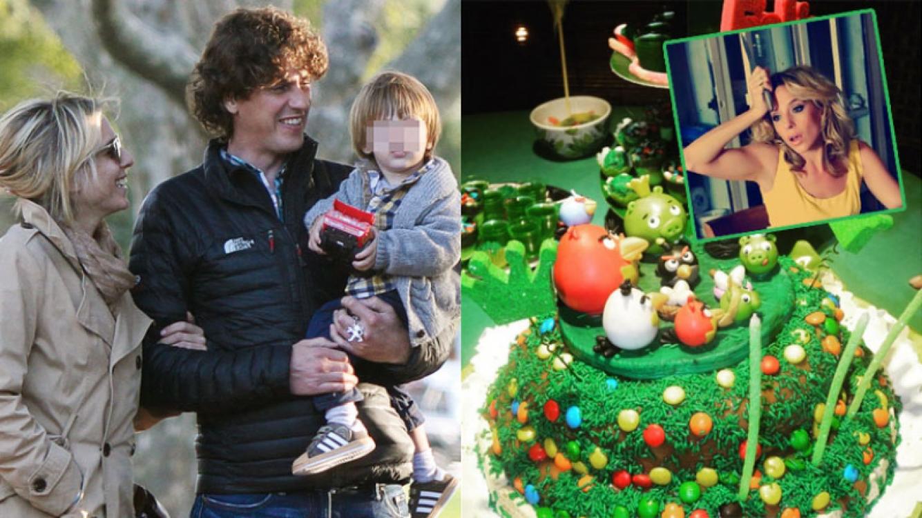 Carla Peterson, ¿cocinera? Le preparó una gran torta de cumple a Gaspar (Fotos: Instagram y Web).