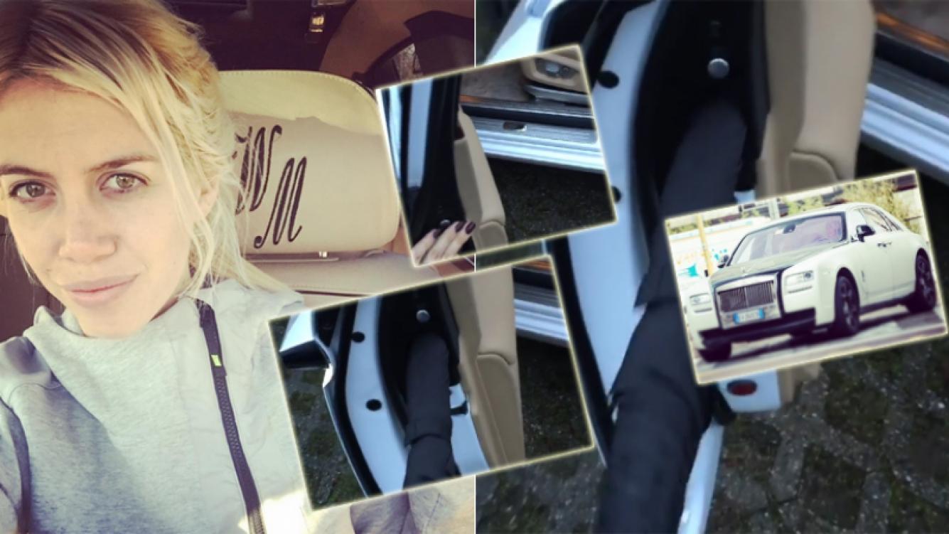 Wanda Nara mostró el detalle de lujo que tiene su costoso Rolls Royce (Foto: Instagram)
