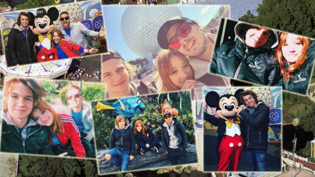 Ángela, Franco y Stefano, en Disney (Foto: Instagram)