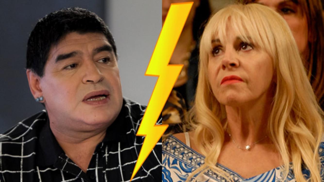 Diego Maradona y Claudia Villafañe en su peor momento (Fotos: Web).