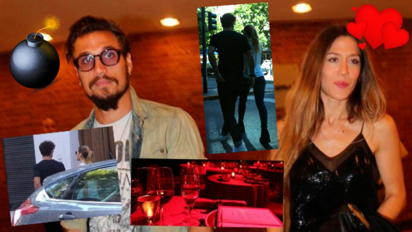 Daniel Osvaldo y Jimena Barón, juntos en la noche de Puerto Madero... ¿y en la tarde de Palermo? Fotos: Twitter y archivo Web.