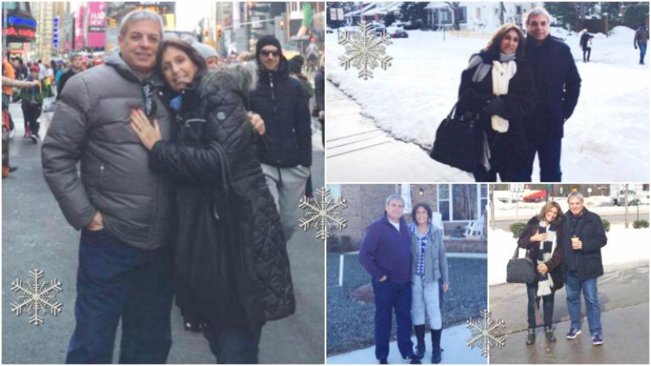 Las fotos de Carlos Monti y su mujer en Estados Unidos (Fotos: álbum familiar)