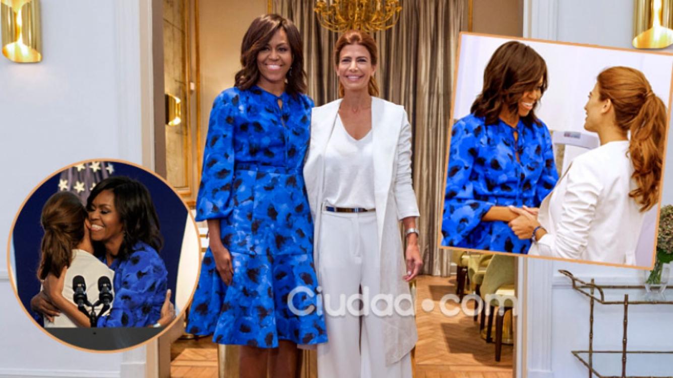 Michelle Obama y Juliana Awada, juntas en Barracas (Fotos: AFP).