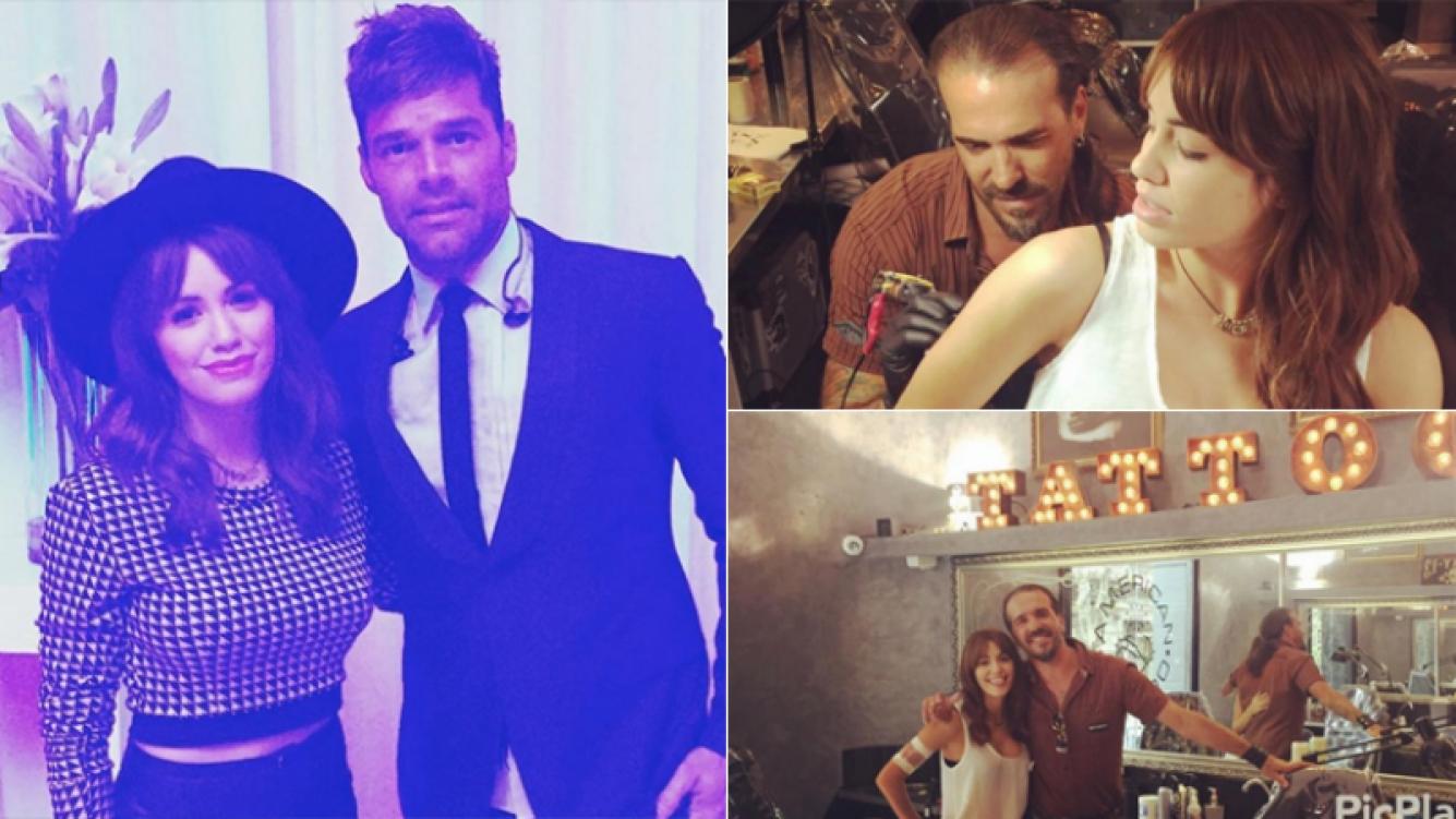 Lali se hizo nuevos tatuajes... y a la noche disfrutó del recital de Ricky Martin (Foto: Instagram)