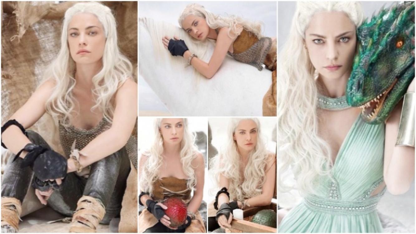 Dolores Fonzi se puso en la piel de la heroína de Game of Thrones para la revista Miradas (Fotos: José Cicala)