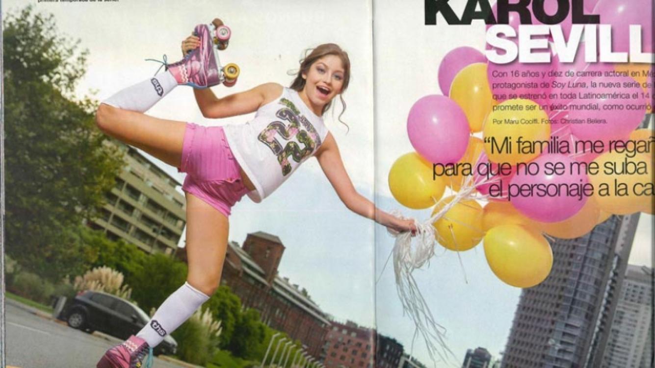 Karol Sevilla, la protagonista de Soy Luna. Foto: revista Gente