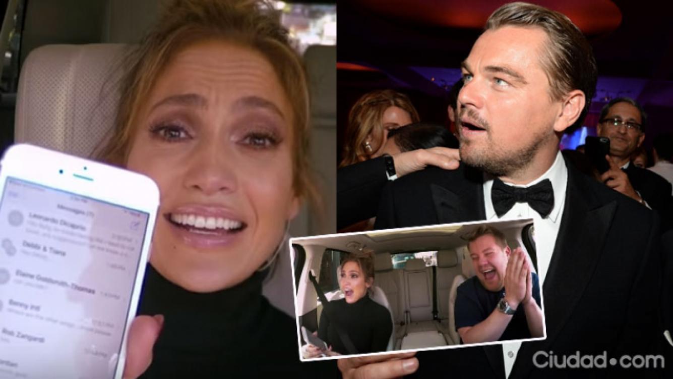 Jennifer Lopez le hizo una broma muy pícara a DiCaprio (Fotos: Capturas y AFP).